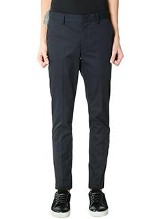 Lanvin-Pantaloni pence in cotone blue