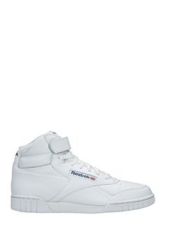 Reebok-Ex-o-fit hi white leather sneakers