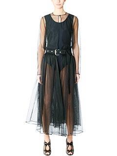 Givenchy-Capospalla Long Coat in tulle nero