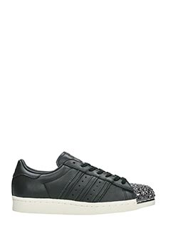 Adidas-Superstar 80s 3 black leather sneakers