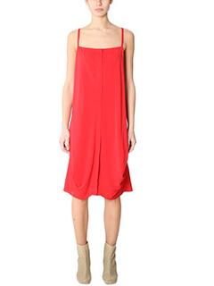 Maison Margiela-Vestito in cr�pe rossa