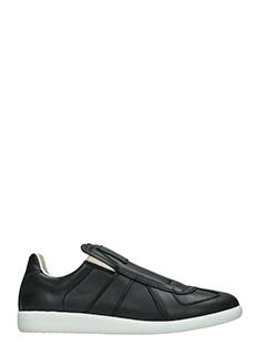 Maison Margiela-Sneakers Replica Slip On in pelle nera