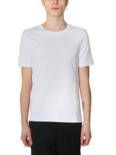 Maison Margiela-T-Shirt Basic in cotone bianco-girocollo