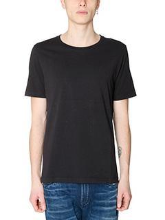 Maison Margiela-T-Shirt Basic in cotone nero-girocollo