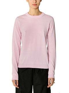 Maison Margiela-rose-pink cotton knitwear