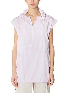 Maison Margiela-Top in cotone bianca rosa