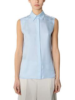 Maison Margiela-cyan silk shirt