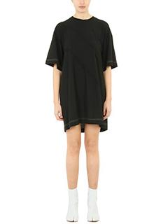 Maison Margiela-T-Shirt Over in viscosa nera