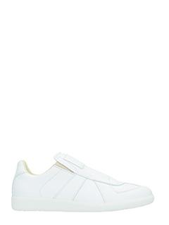 Maison Margiela-Sneakers Replica Slip On in pelle bianca