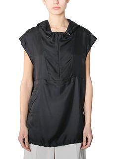 Maison Margiela-Top in seta nera