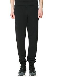 Maison Margiela-Pantaloni in cotone nero