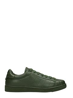 Dsquared 2-Sneakers Santa Monica in pelle verde mility