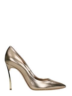 Casadei-Blade bronze leather pumps