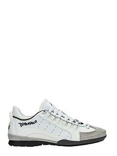 Dsquared 2-Sneakers 551 in pelle bianca -lacci