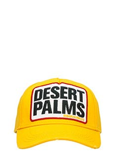 Dsquared 2-Desert palms yellow cotton hat