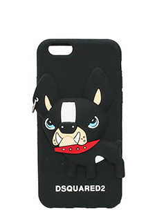 Dsquared 2-Cover IPhone Dog in silicone nero