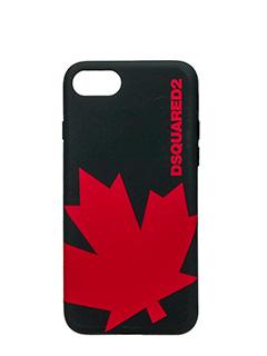 Dsquared 2-Cover IPhone 7 Canada in silicone nero rosso