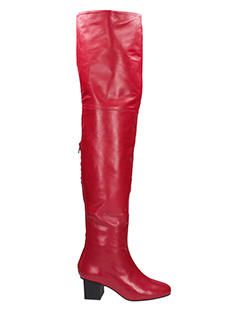 Marc Ellis-red suede and leather boots