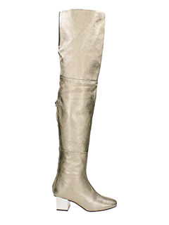 Marc Ellis-gold suede and leather boots