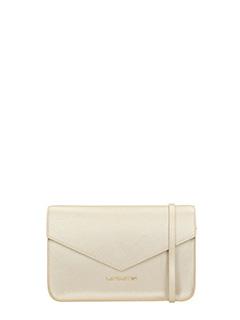 Lancaster-Pochette Adeline Mini Clutch in pelle champagne