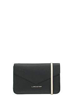 Lancaster-Pochette Adeline Mini Clutch in pelle nera/bianca