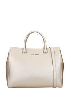 Lancaster-Borsa  Shopping Bag medium  in pelle champagne