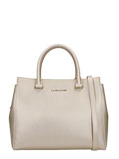 Lancaster-Borsa Adeline Handle Bag in pelle saffiano champagne