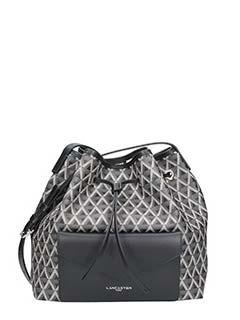 Lancaster-Ikon black faux leather bag