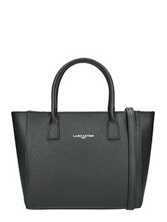 Lancaster-Borsa  Shopping Bag Small in pelle saffiano nera