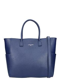 Lancaster-Borsa  Adele Large Handle in pelle saffiano blue