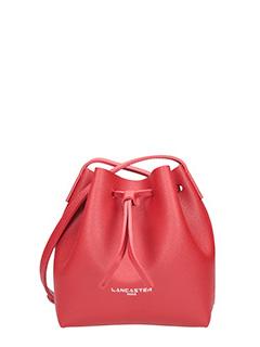 Lancaster-Borsa Mini Bucket in pelle rossa