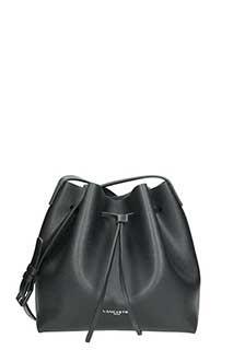 Lancaster-Pur saffiano black leather bag