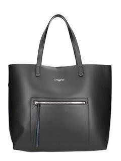 Lancaster-Borsa Zip Tote Bag in pelle nera
