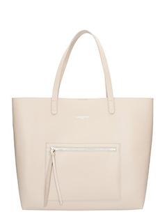 Lancaster-Borsa Zip Tote Bag in pelle taupe