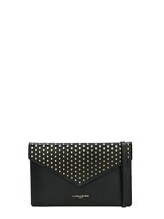 Lancaster-Pochette Mini Clutch Flap in pelle nera