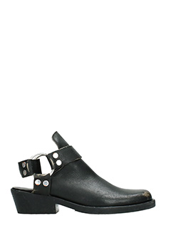 Balenciaga-black leather ankle boots