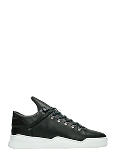 Filling Pieces-Sneakers Mountain Cut Ghost  in pelle nera