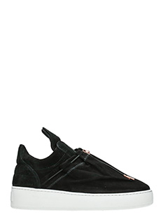 Filling Pieces-Sneakers Mountain Cut Laced Tassle in suede nero