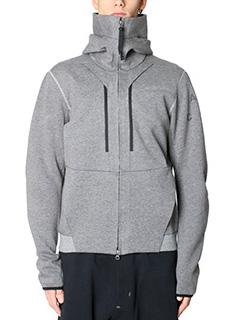 Nike Lab ACG-Felpa Funnel Hoodie in cotone grigio