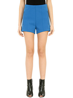 Balenciaga-blue viscose shorts