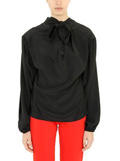 Balenciaga-Blusa in seta nera