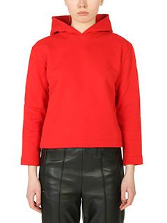 Balenciaga-Felpa Paris in cotone rosso