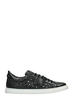 One Way-Sneakers basse in pelle nera