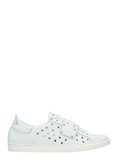One Way-Sneakers basse in pelle bianca