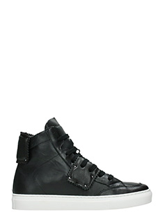 One Way-Sneakers alte in pelle nera