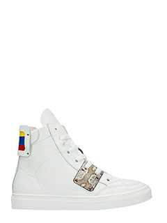 One Way-Sneakers alte in pelle  bianca