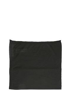 Rick Owens-Sciarpa Fine Scarf in cotone nero