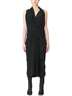 Rick Owens-Vestito Limo Dress in viscosa nera