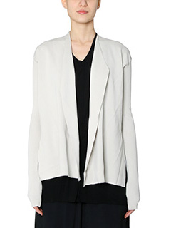Rick Owens-Cardigan Short Librarian in cotone dinge