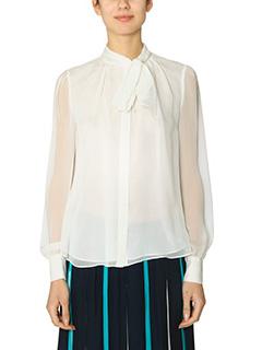 Diane Von Furstenberg-Alvanna white silk shirt